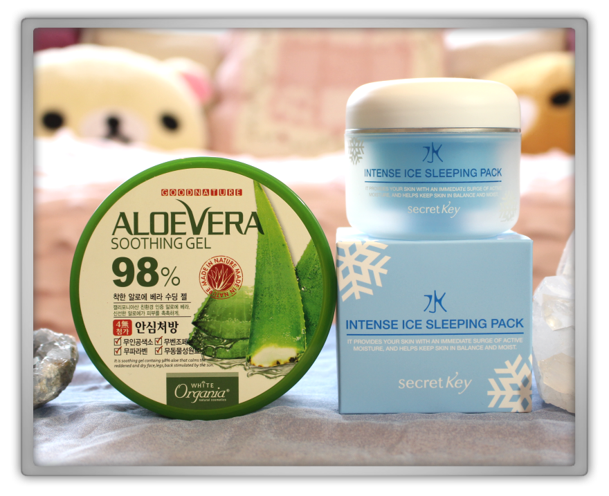 겟잇뷰티박스 by 미미박스 memebox beautybox # special #13 Cooling Care unboxing review  box organia aloe vera soothing gell secret key intense ice sleeping pack