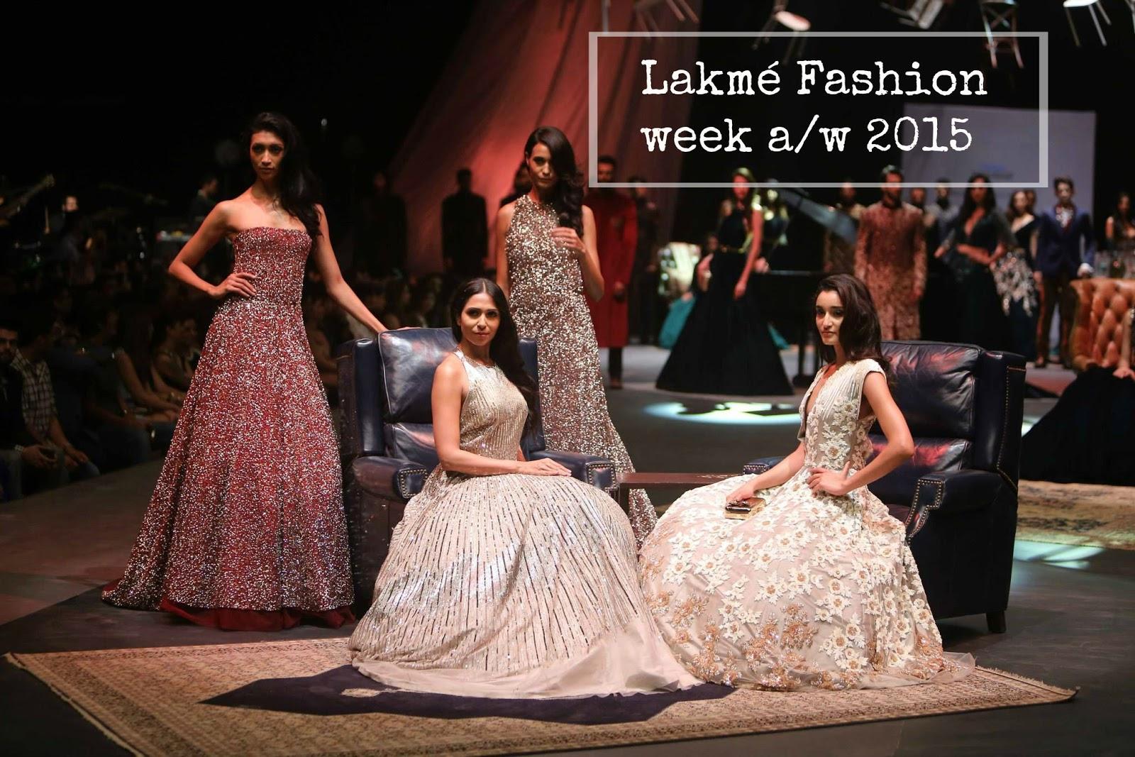 Manish Malhotra Lakmé Fashion week a/w 2015