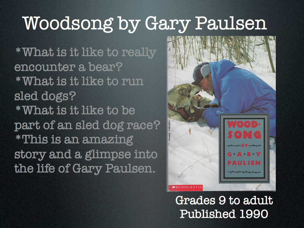 Young Adult Reading Machine: Woodsong by Gary Paulsen