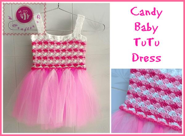 Candy Baby Tutu Dress Free Crochet Pattern