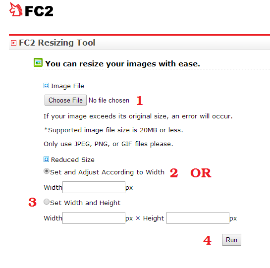 Image Re-Sizing Tool