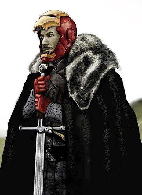 Tony Stark Ned Stark - Juego de Tronos en los siete reinos