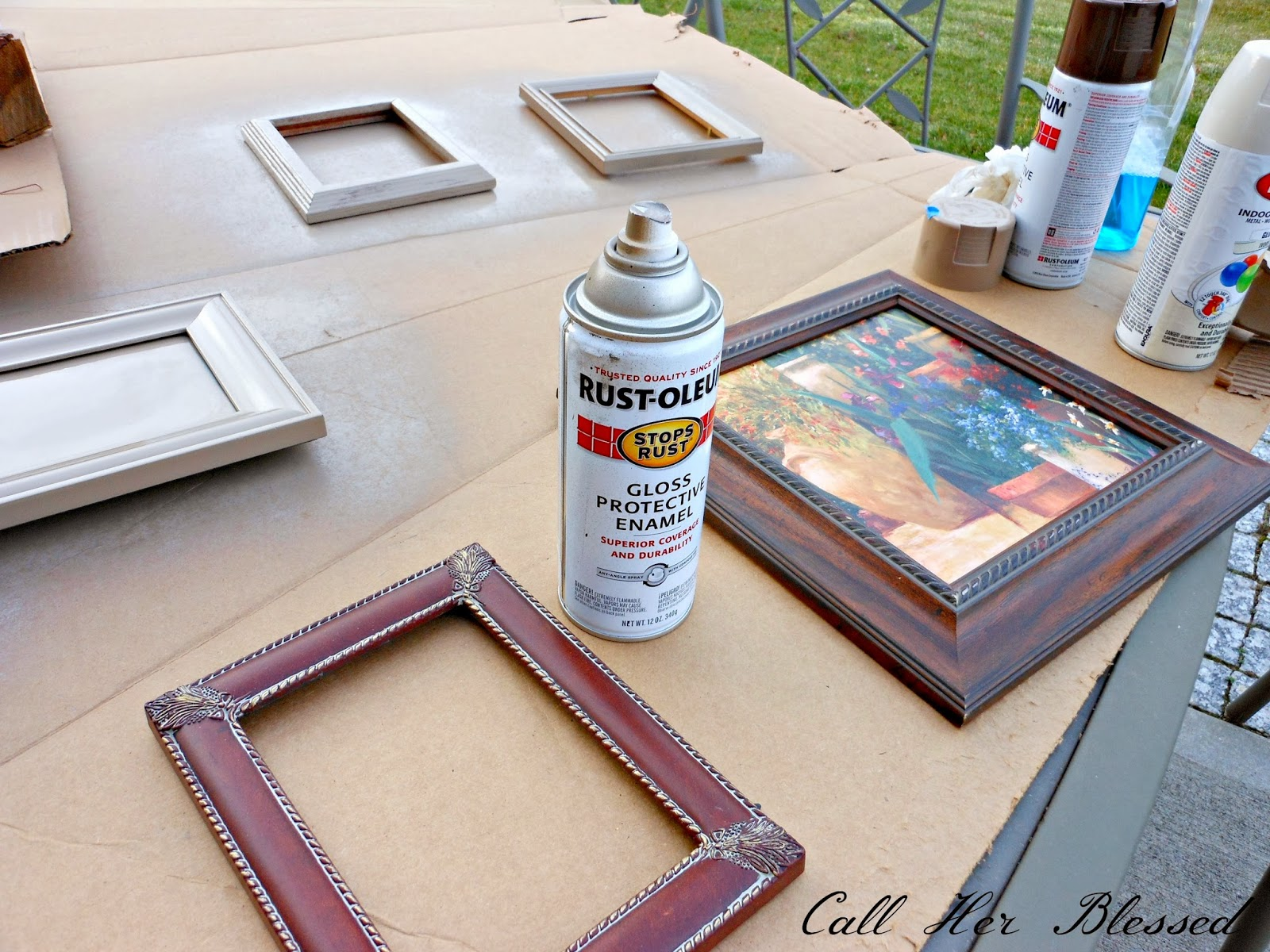 Call Her Blessed: Distressing Frames with Soap & Spray Paint