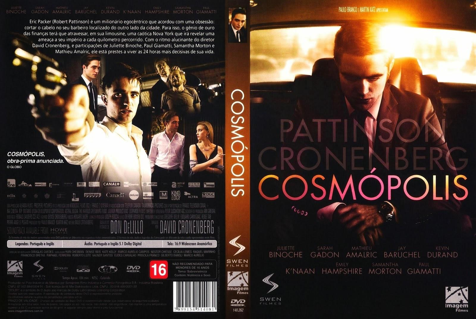 Cosmópolis Filme Stunning capas medina - somente capas de dvd