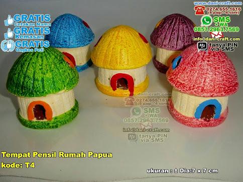 Tempat Pensil Rumah Papua Gerabah