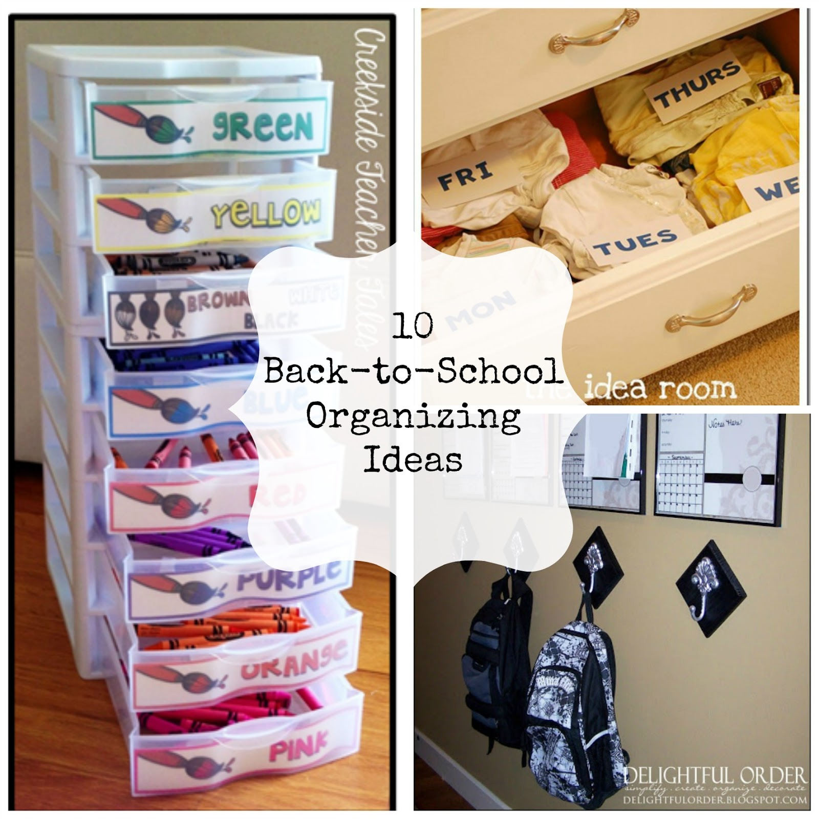 10 back to school organization ideas fun home things