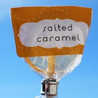Salted Caramel Lollipops