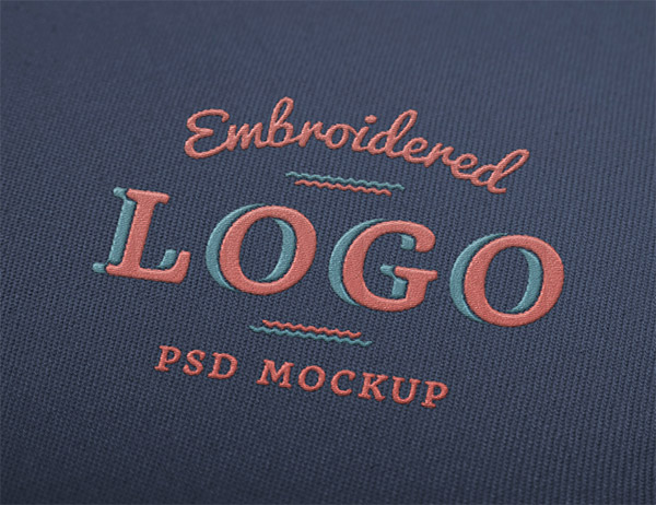 Download Logo Mockup PSD Terbaru Gratis - Embroidered Logo Mockup