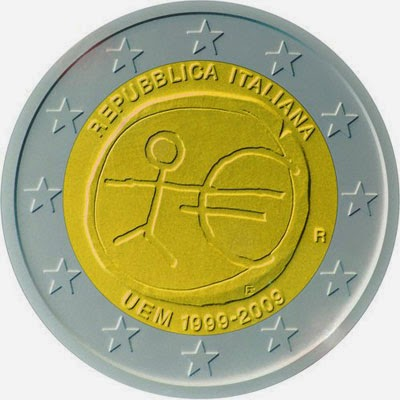 2 euro Italy 2009, Ten years of Economic and Monetary Union and the launch of the euro