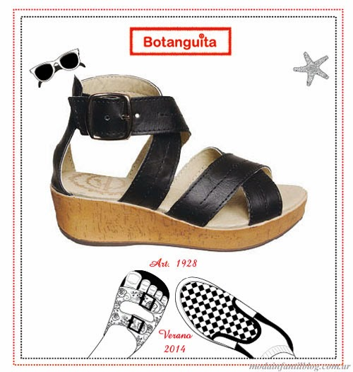 moda infantil 2014 sandalias para niñas botanguita