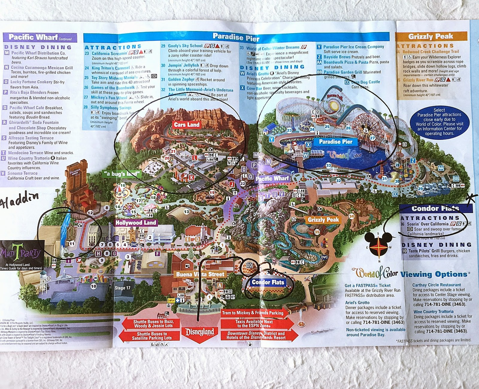 California Adventure Park Map 2015 Related Keywords