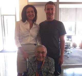 Florence Usuária mais velha do Facebook é uma Vovó de 101 anos
