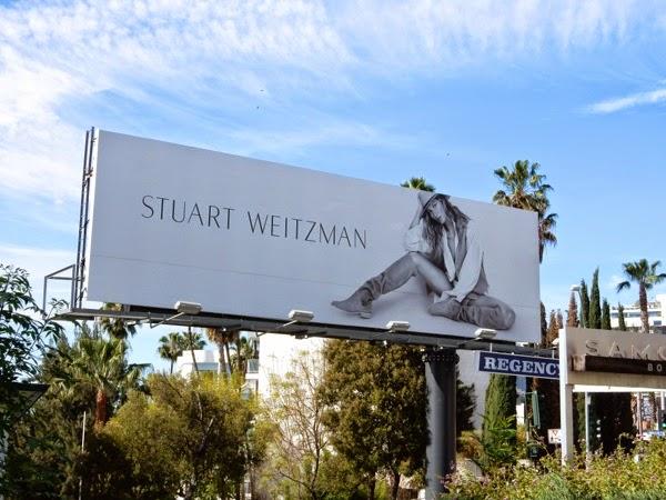 Stuart Weitzman boots Gisele Bundchen Spring 2015 billboard