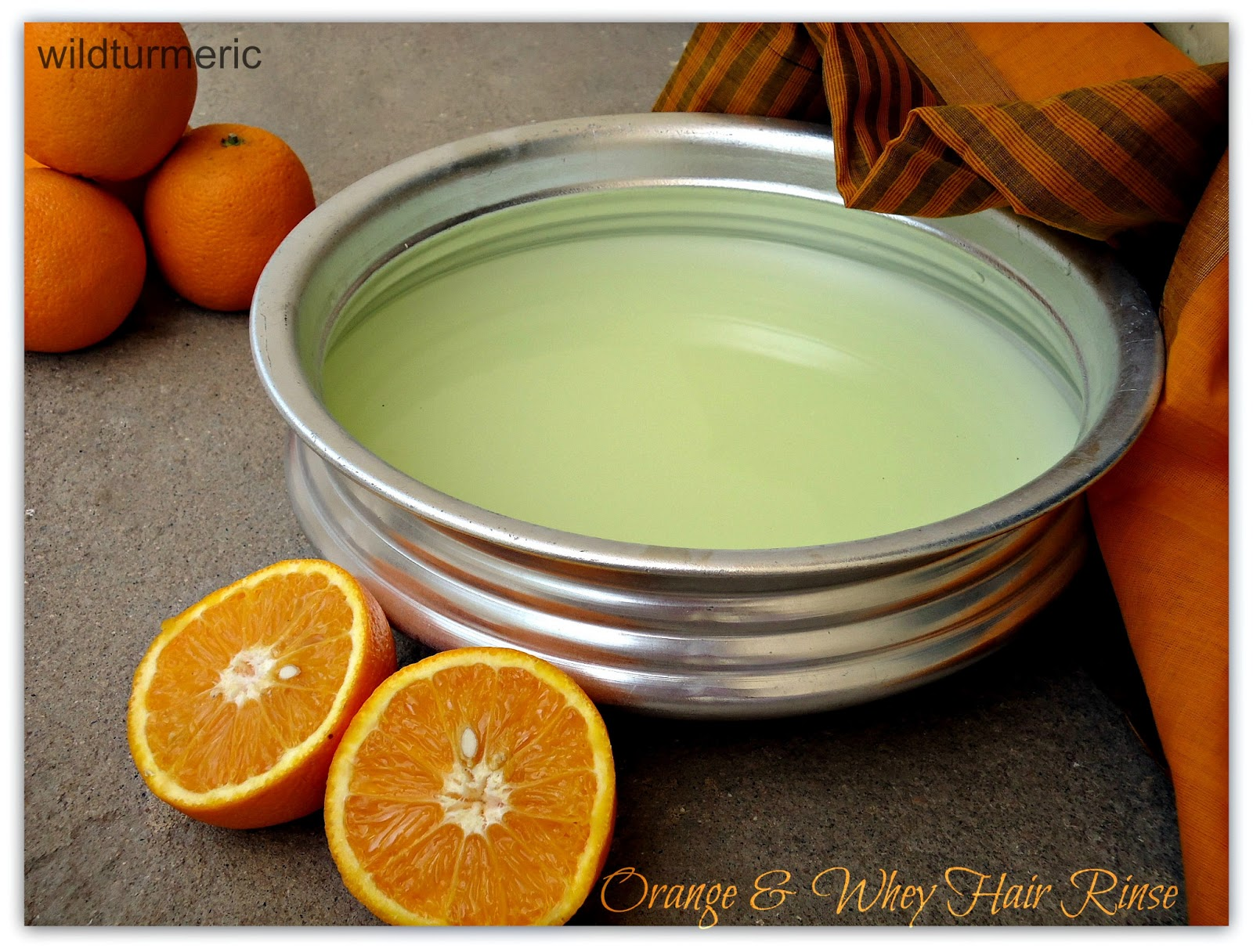 DIY: Orange & Whey Hair Rinse Recipe