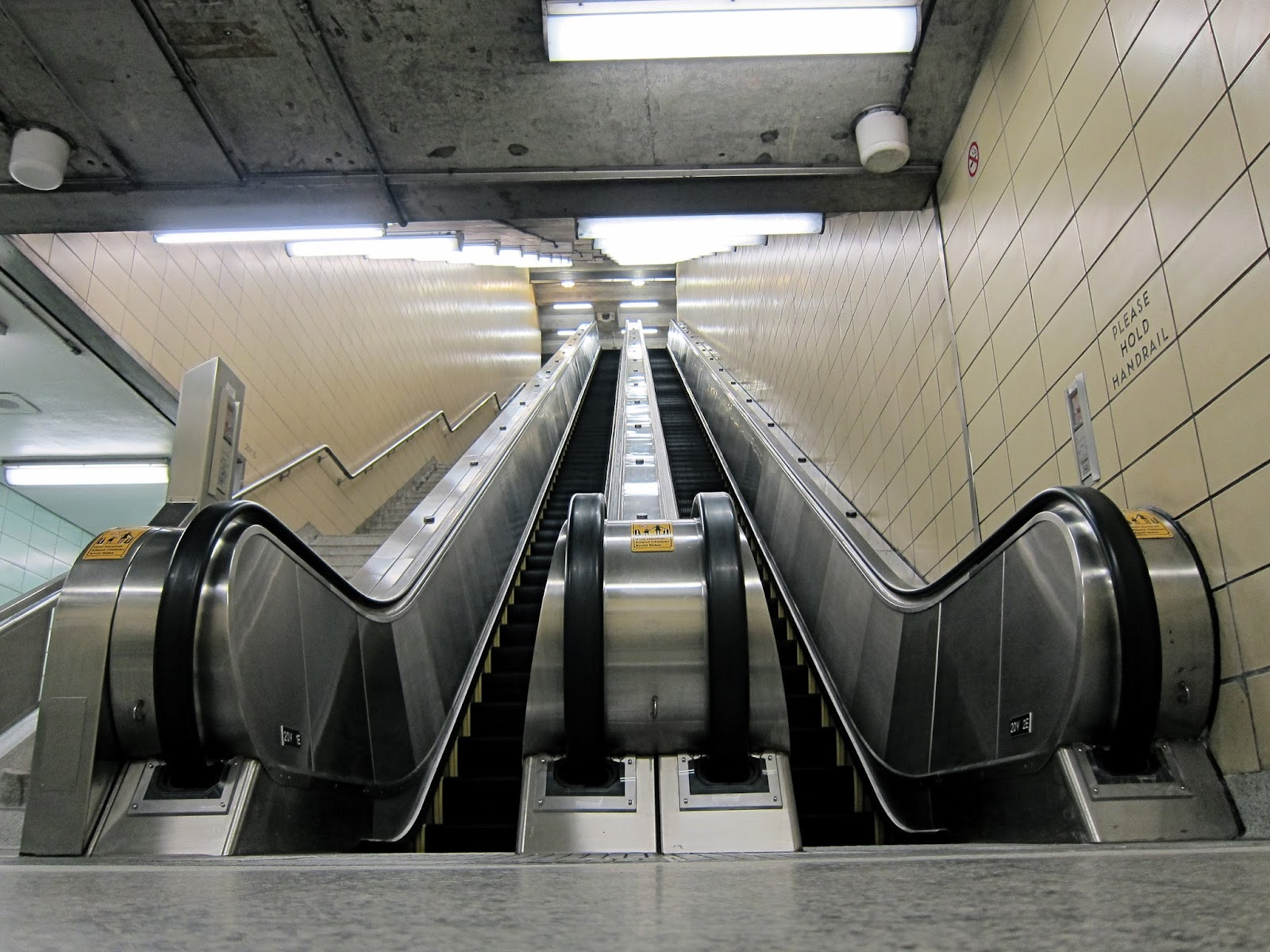 York Mills escalators