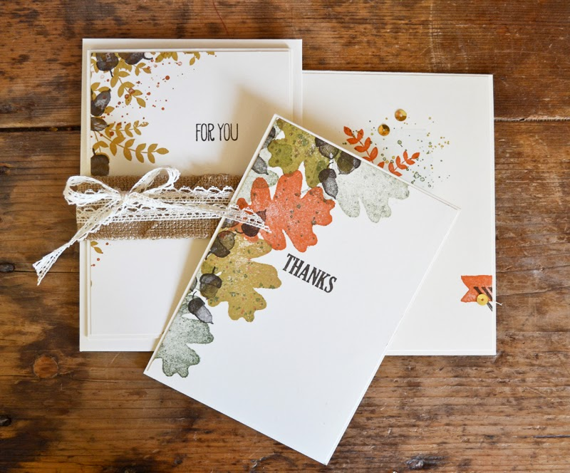 UK Stampin' Up demonstrator Victoria Hayes stamps a bundle of cards using For All Things and Gorgeous Grunge