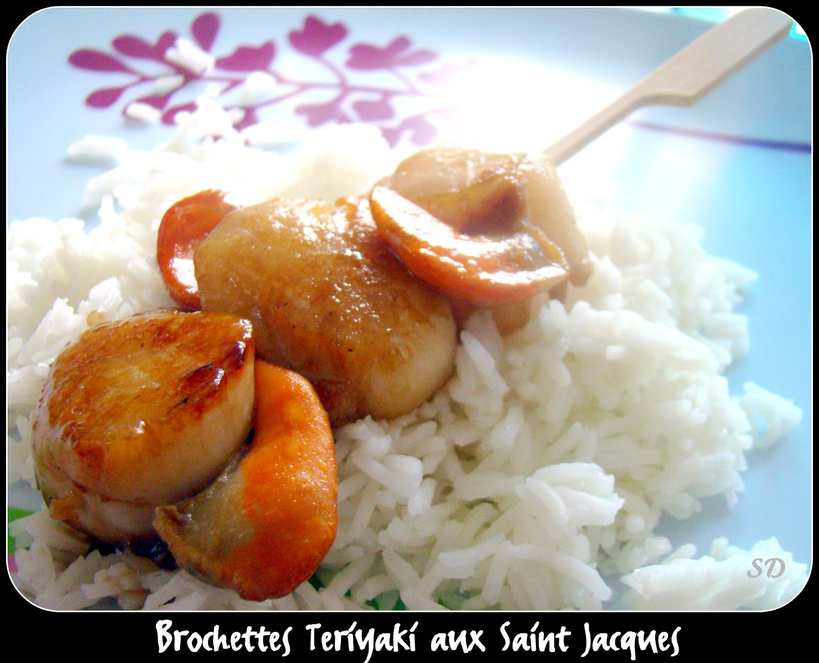 Brochette teriyaki aux noix de saint jacques for Brochette noix de saint jacques