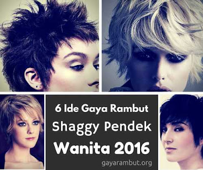 6 Gaya Rambut shaggy pendek wanita 3226547