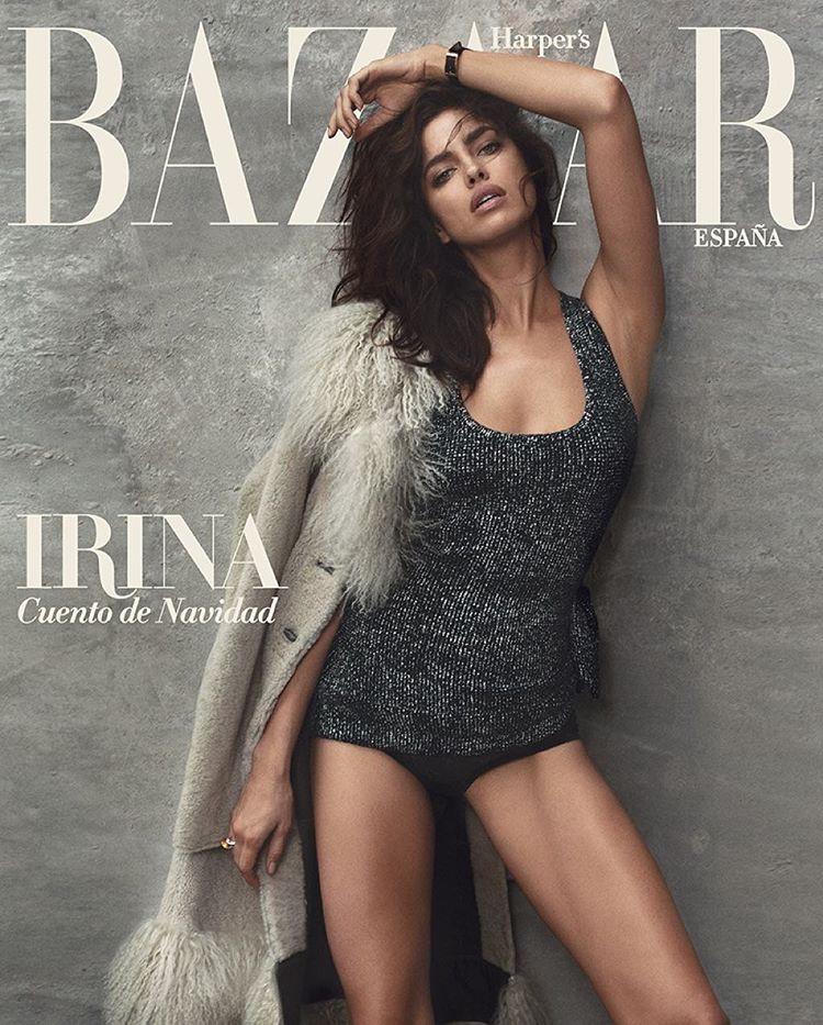 Irina Shayk seduces for Harper's Bazaar Spain December 2015