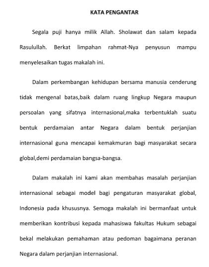 Contoh Kata Pengantar Hukum Untuk Pelajar
