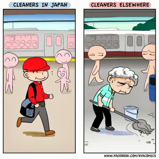 Cleaners as a job cultural difference japan