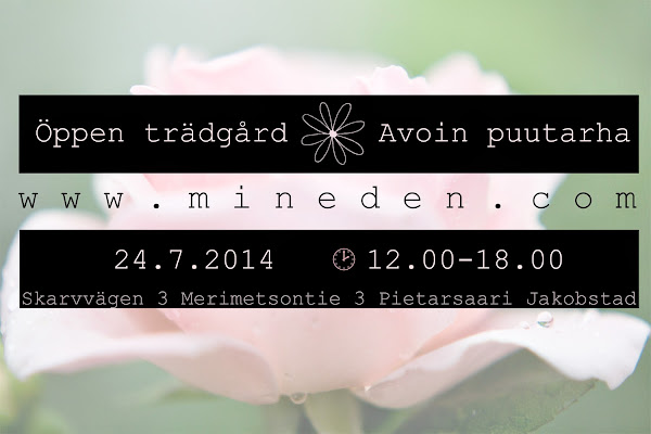 Öppen Trädgård Avoin Puutarha 24.7.2014