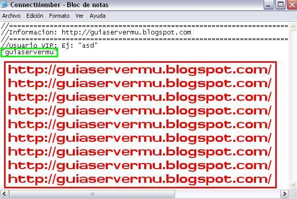 Agregando usuario vip al archivo