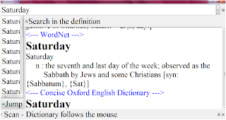 dictionary meaning of Saturday sabbath