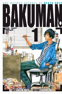 Bakuman, mangá, histórias em quadrinhos, Tsgumi Ohba, Takeshi Obata, Death Note, Shonen Jump, JBC,