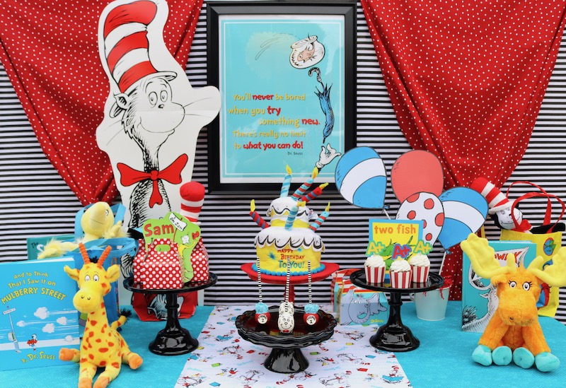 Dr Seuss Party Ideas LAURAS little PARTY