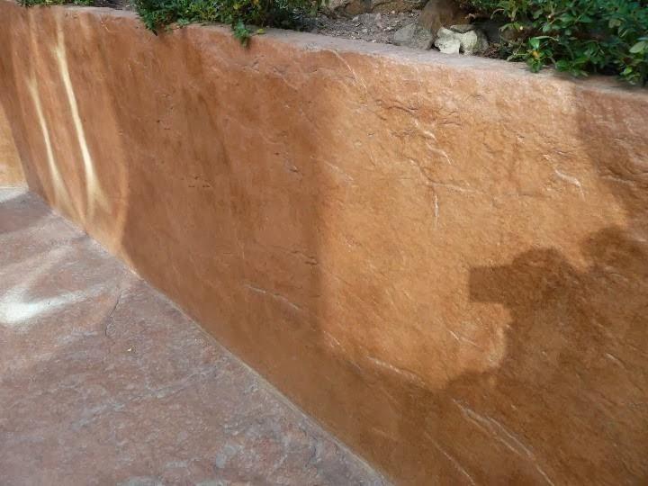 Щампован бетон имитация на каменна стена