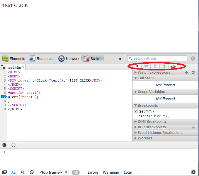how to use javascript debugger in chrome