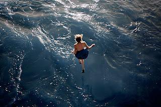 O mar...