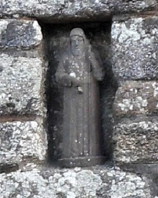 The Monk statue at St Cleer Holy Well