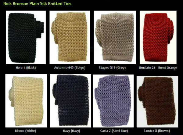 Nick Bronson Plain Knitted Ties