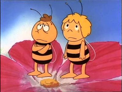 Imagen : La abeja Maya y Willy