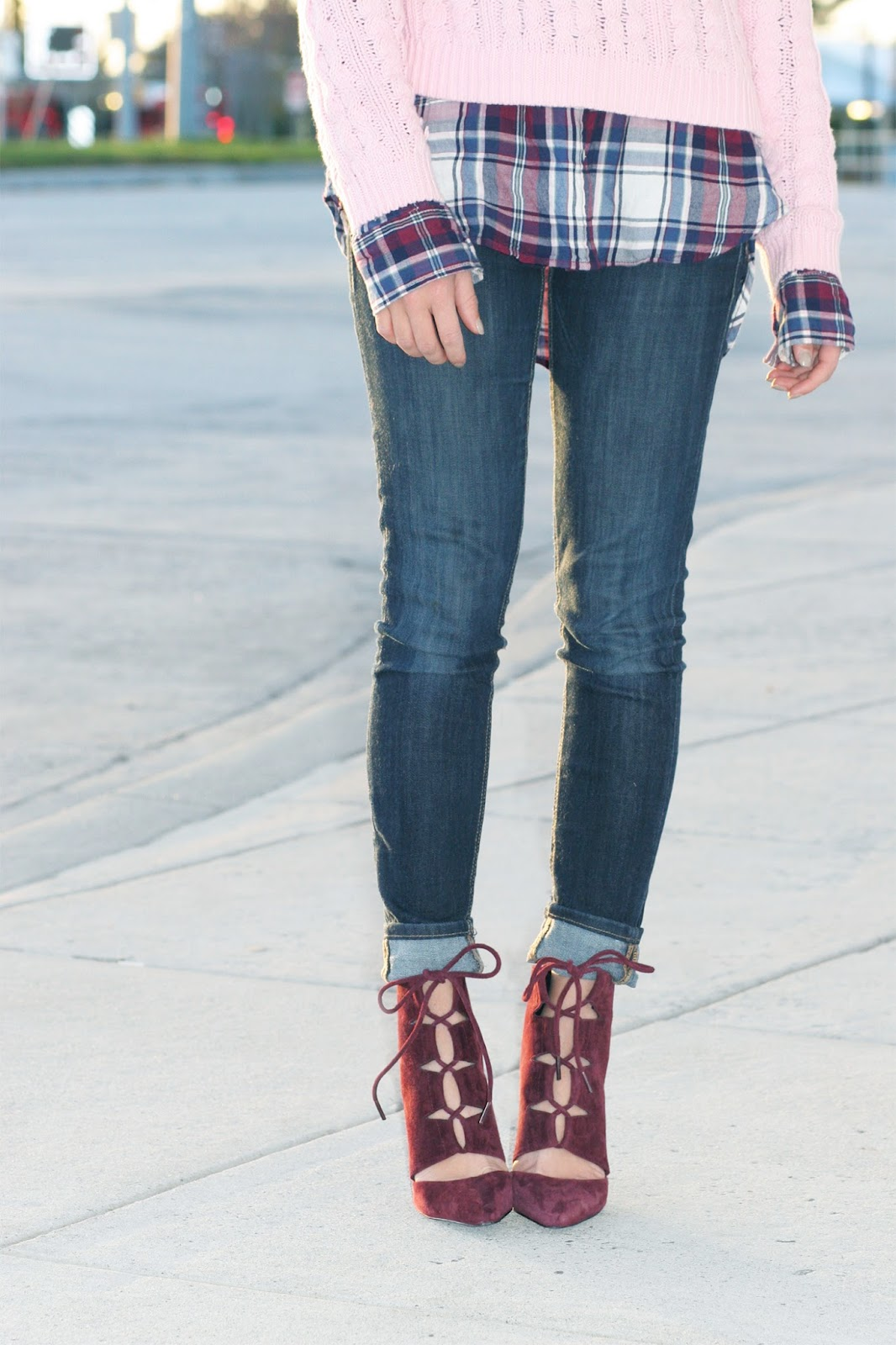 navy-red-and-pink-plaid-layered-and-lace-up-pumps
