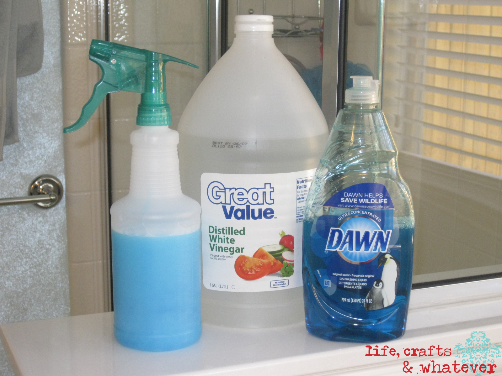 Life crafts whatever dawn vinegar soap scum killa How to clean bathtub