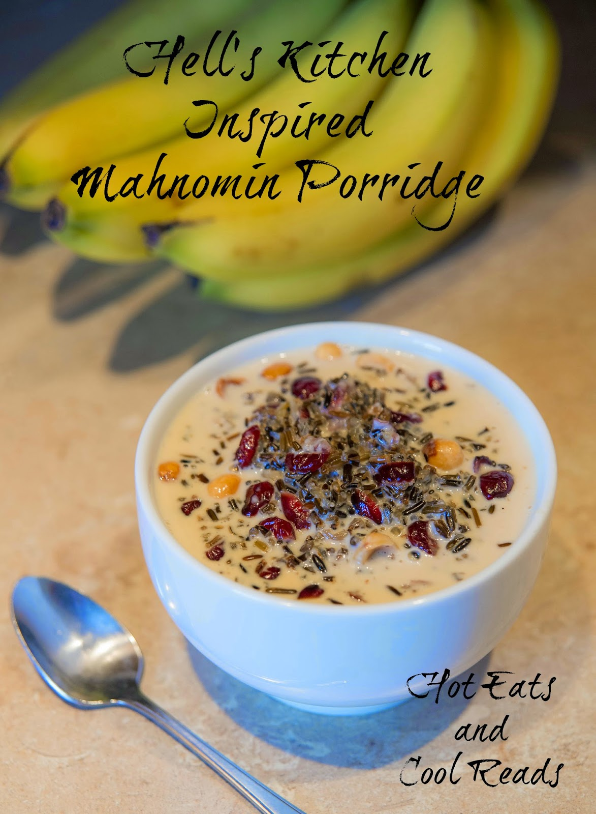 Pure Minnesota comfort food breakfast! Hell's Kitchen Inspired Mahnomin Porridge from Hot Eats and Cool Reads!