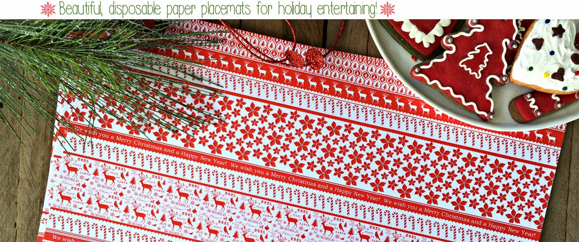 Outside the Box Papers Christmas Holiday Paper Placemats