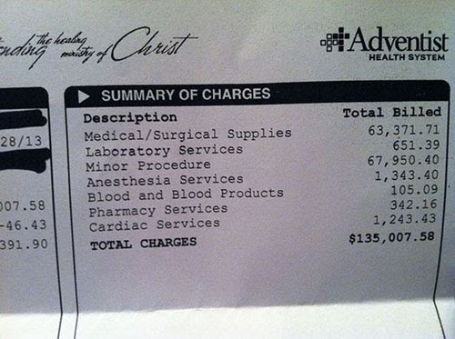 Unseen and Mind Blowing US Medical Bills