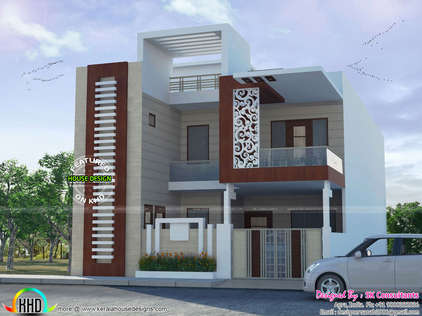 decorative house plan by sk consultants - Home Design In India