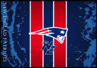 New England Patriots with doubel red strips wallpapers