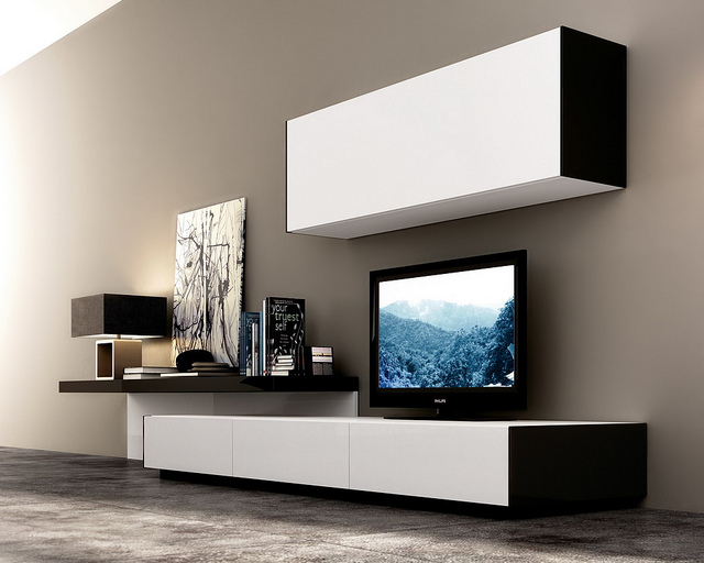 Viejitos piolas muebles living rack tv for Muebles para living