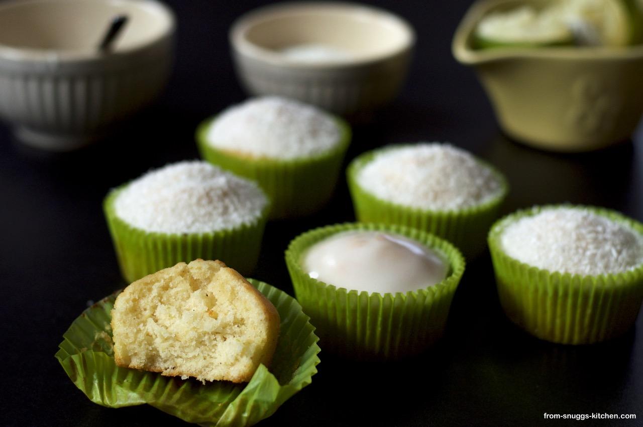 Limetten-Kefir-Kokos-Muffins