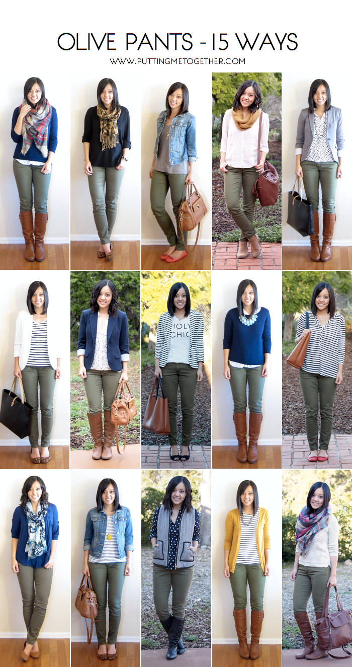 Putting Me Together: How to Wear Olive Skinny Jeans - 15 Ways