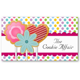 Business card showcase by socialite designs cookie pops bakery our whimsical cookie pops business cards are perfect for a bakery event stylist or etsy event baker click on the images below to view the front and back colourmoves
