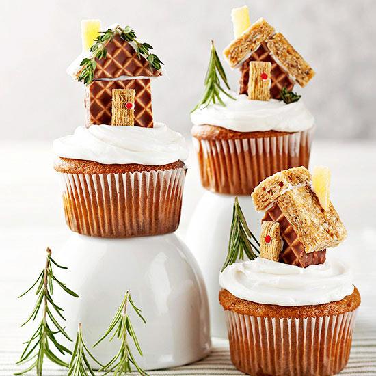 Mini Gingerbread House Cupcakes - Art @ Home