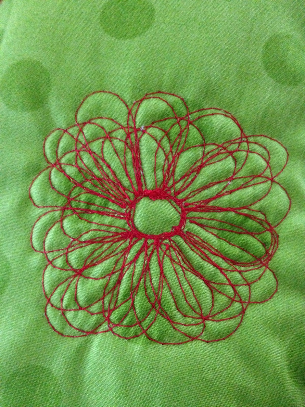 Free Motion Quilting Flower