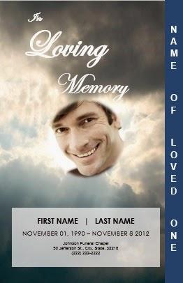 word 2007 funeral program